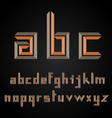 decorative alphabet design vector image vector image