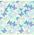 decorative butterflies and paisley pattern vector image vector image