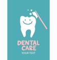 Dental care design concept vector image vector image