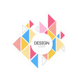 design logo template geometric elements for brand vector image