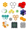 Different honeycombs set vector image