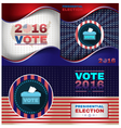 Digital usa presidential election vector image vector image