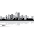 doha city skyline silhouette background vector image vector image