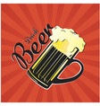 drink beer beer mug background image vector image