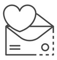 email heart inbox icon outline style vector image vector image