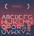 english alphabet digital letters flat set vector image