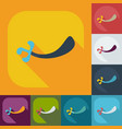 flat modern design with shadow icons sword vector image vector image