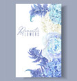 floral blue border vector image vector image