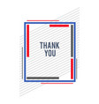 frame-construct-thankyou-blue-red vector image
