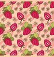 fruits hand drawn set vector image vector image