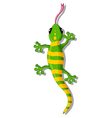 green gecko cartoon for you design vector image