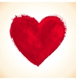 Hand-drawn painted red heart vector | Price: 1 Credit (USD $1)