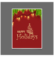 happy holiday christmas tree background vector image vector image