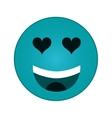 heart eyes emoticon icon vector image vector image