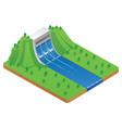 hydro energy plant vector image