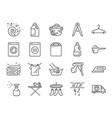 laundry icon set vector image