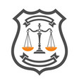 law and order logo vector image