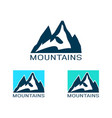 logo mountain in flat style icon silhouette vector image vector image