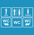 male and female wc icon denoting toilet vector image vector image