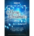 Merry Christmas Party Flyer Abstract Winter vector image vector image