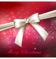 Merry Christmas shiny red holiday background with vector image vector image
