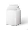 Milk Juice Beverages Carton Package Blank White On vector image