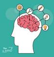 mind head brain creativity solution knowledge vector image vector image