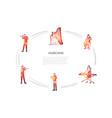 musicians - violinist harpist cellist vector image vector image