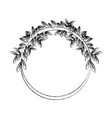natural laurel wreaths round for emblem vector image