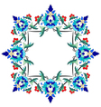 Ottoman motifs design series seventy two vector image vector image