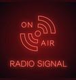 radio signal neon light icon vector image