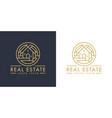 real estate logo line icon vector image