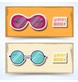retro glasses background concept vector image