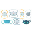 safety breathing masks industrial safety n95 mask vector image vector image