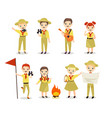scouts flat set children vector image
