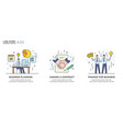 set concept with businessmen vector image vector image