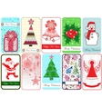 Set of ten Christmas Cards vector image