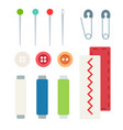 sewing accessories kits for home needlework vector image vector image