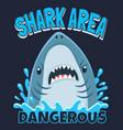 shark area poster attack sharks ocean diving vector image