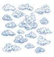 sky sketch with white clouds atmosphere heaven vector image vector image