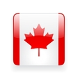 Square icon with flag of Canada vector image vector image