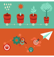 strategy growth vector image