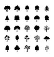 trees glyph icons set vector image vector image