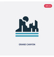 two color grand canyon icon from united states vector image vector image