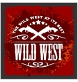 Wild west vintage artwork for boy wear on vector image vector image