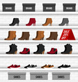 with shoes vector image vector image