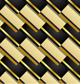 Pattern background in black and gold vector image