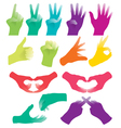 hand sign vector image