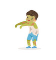 little boy dressed as a zombie cute kid in vector image