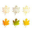 a maple leaf in red yellow orange and green vector image vector image